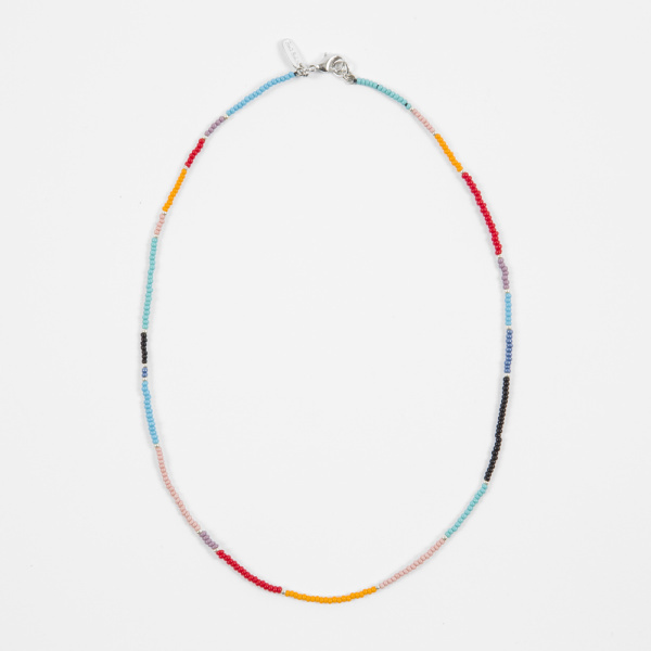 Paul Smith Men's Colour Block Bead Necklace