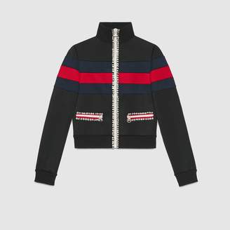 Gucci Technical jersey zip up jacket