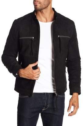 Blank NYC BLANKNYC Denim Comfortably Numb Suede Leather Moto Jacket