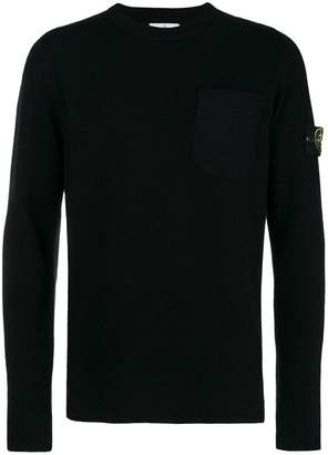 Stone Island patch pocket knitted sweater