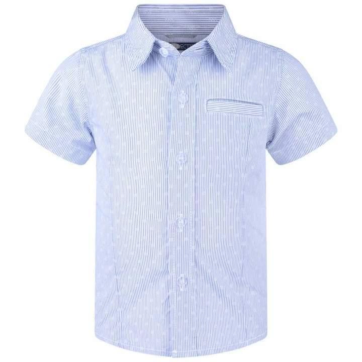 SarabandaBoys Blue Striped Short Sleeve Shirt
