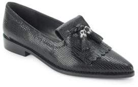 Stuart Weitzman Verve Leather Tassle Loafers