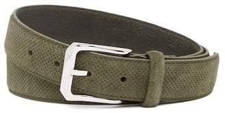 Michael Bastian Perforated Italian Suede Belt