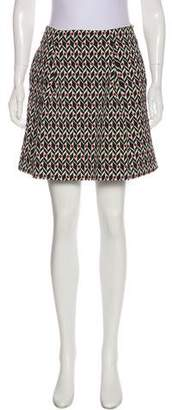 BA&SH Patterned Mini Skirt
