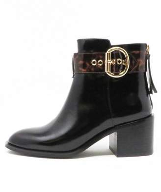 Jeffrey Campbell Tortoise Black Booties