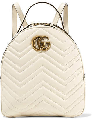 Gucci Gg Marmont Quilted Leather Backpack - Ivory 74f37d2382786
