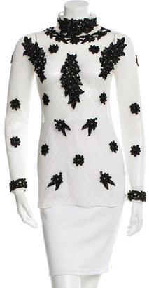 Alice by Temperley Mesh Long Sleeve Top $95 thestylecure.com