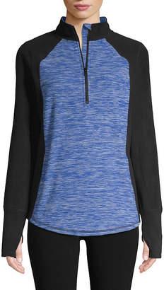 ST. JOHN'S BAY SJB ACTIVE Active Long Sleeve 1/4 Zip Pullover - Tall