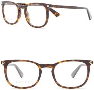 Gucci 50mm Square Optical Frames