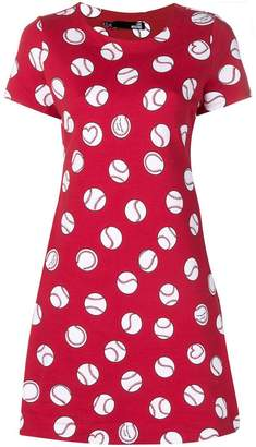 Love Moschino baseball print dress