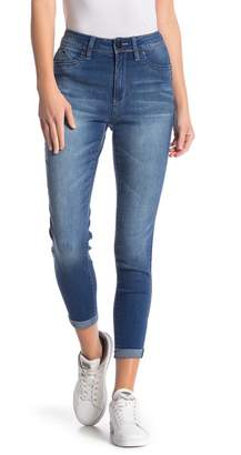 YMI Jeanswear Jeans Luxe Lift Double Rolled Cuff Skinny Jeans (Juniors)