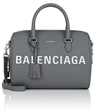 Balenciaga Women's Ville Medium Leather Bowling Bag