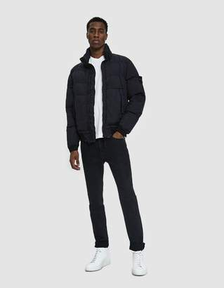 Stone Island Garment Dyed Crinkle Reps Real Down Jacket in Navy Blue