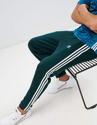 adidas adicolor 3-Stripe Joggers In Green CX1898
