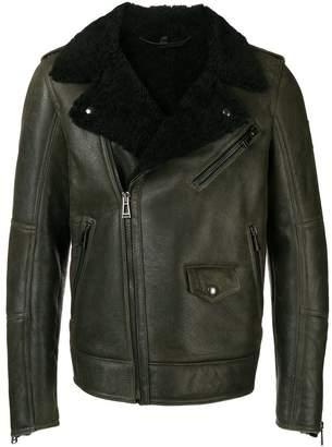 Belstaff shearling-lined biker jacket