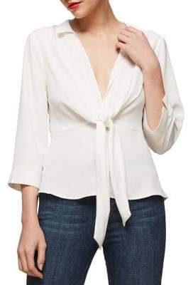 Miss Selfridge Tie-Waist Shirt