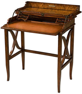 Theodore Alexander Brooksby's Leather Campaign Desk - Brown