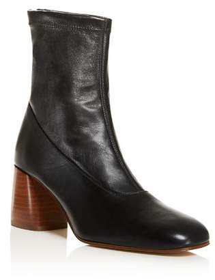 Creatures of Comfort Women's Dalia Square Toe Mid-Heel Booties