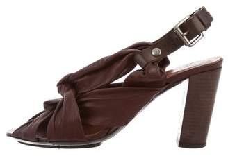 Dries Van Noten Leather Crossover Sandals