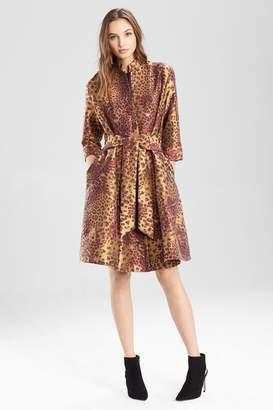 Josie Natori Animal Jacquard Trench Dress