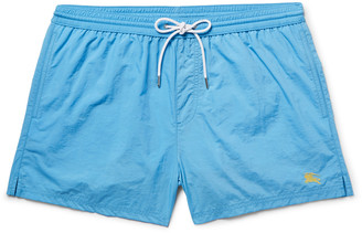 Burberry Brit Short-Length Swim Shorts $135 thestylecure.com