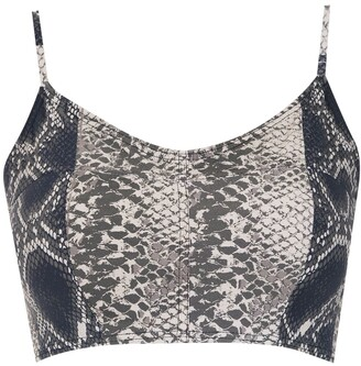 AMIR SLAMA printed cropped top