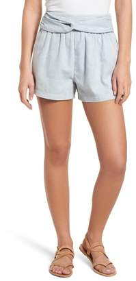 Moon River Knotted Jacquard Shorts
