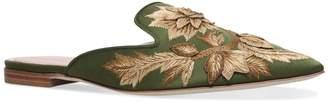 Alberta Ferretti Mia Embroidered Slippers