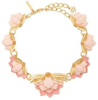 Oscar de la Renta enamelled Wild Lotus necklace