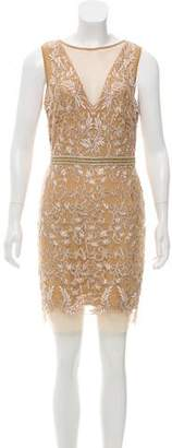 Nicole Miller Embellished Metallic Dress