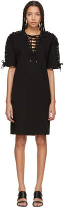 McQ Black Laced T-Shirt Dress