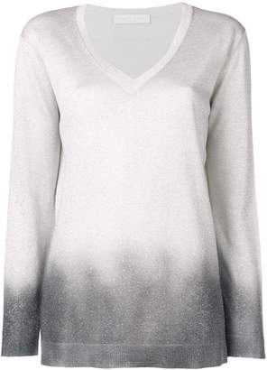 Fabiana Filippi lamé V-neck sweater