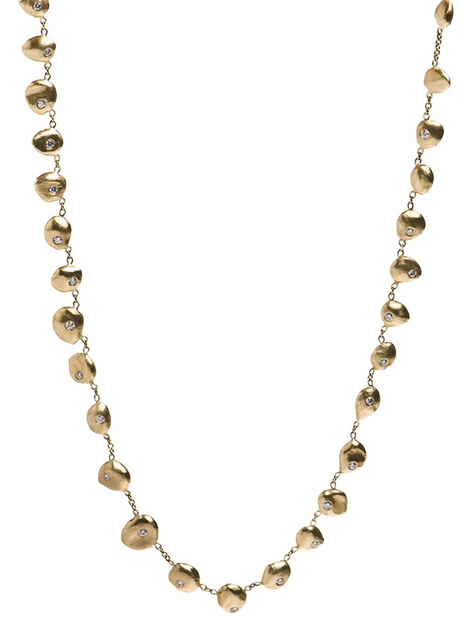 Natasha Collis 18K Gold Necklace with Yellow Gold Nuggets