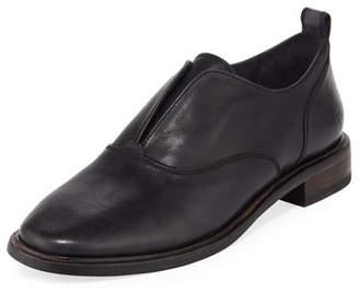 Frye Kelly Open Leather Oxfords, Black