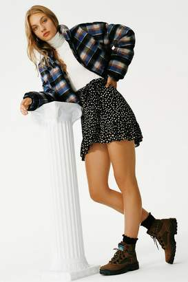 Urban Outfitters Tie-Front Ruffle Rara Skirt