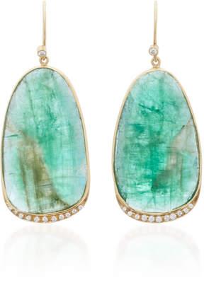 Kothari Aura 18K Gold Emerald and Diamond Earrings