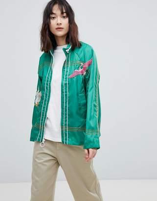 Asos DESIGN Embroidered Rain Jacket