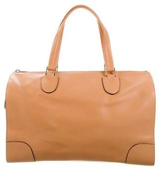 Valextra Leather Weekender Satchel