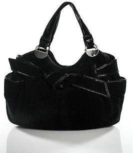 Koolaburra Black Leather Magnetic Popper 3 Pocket Tote Size Medium $79 thestylecure.com
