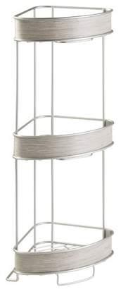 "InterDesign Realwood 3 Tier Corner 7.5"" W x 25.4"" H Freestanding Shelving"