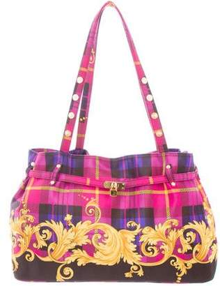 Gianni Versace Vintage Printed Woven Tote