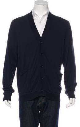 James Perse Woven Button-Up Cardigan