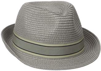 Henschel Men's Crushable Fedora with Braided Strips and Grosgrain Bow Band
