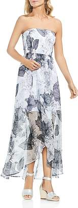 Vince Camuto Smocked Island Floral Maxi Dress