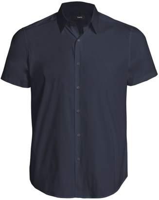 Theory Sylvain S. Wealth Slim-Fit Short Sleeve Shirt