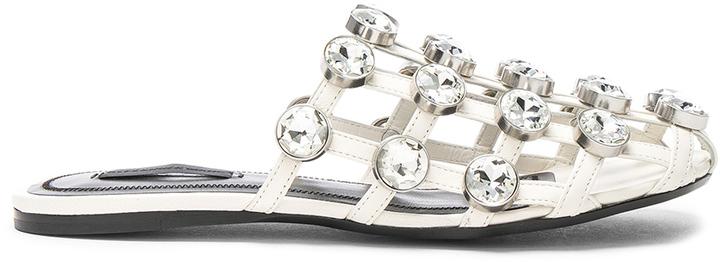 Alexander Wang Jeweled Leather Amelia Slides