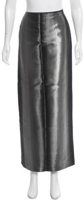 Jean Paul Gaultier Metallic Maxi Skirt $175 thestylecure.com