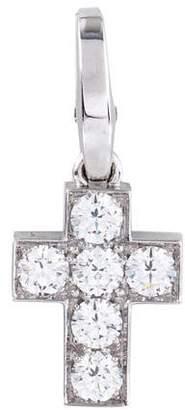 Cartier 18K Diamond Cross Pendant