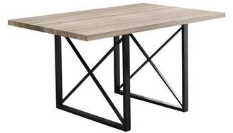 Monarch Specialties 60 in. X-Leg Rectangular Dining Table