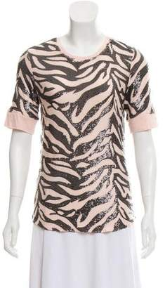 Rebecca Taylor Embellished Short Sleeve Top w/ Tags